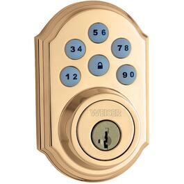Weiser Lock Brass Troy Passage Door Knobset Home