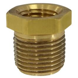 "3/8"" x 1/4"" Male-Female Pipe Thread Reducing Brass Bushing thumb"