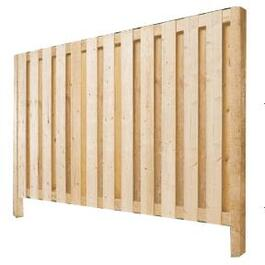 6' Cedar Vertical Board On Board Privacy Fence Package thumb