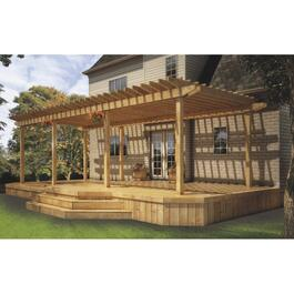 34' x 15' 2x6 Pressure Treated 2 Tier Deck Package, with Pergola thumb