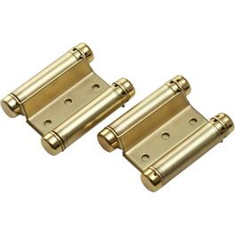 2 Pack Brass Double Action Spring Hinge thumb