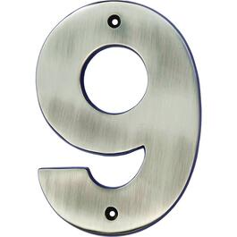 "5"" Antique Nickel '9' House Number thumb"
