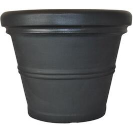 "20"" Black Rolled Rim Poly Planter thumb"
