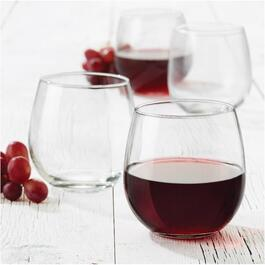 4 Pack 16.5oz Vina Red Wine Stemless Stemware Set thumb