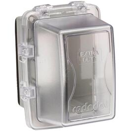 1 Gang Large While-In-Use Weatherproof Extra Duty Clear Receptacle Cover thumb