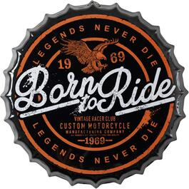"14"" Ride - Legends Never Die Bottle Cap Wall Plaque thumb"