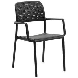 Black Resin Commercial Dining Chair, with Arms thumb