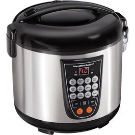 4L Stainless Steel/Black Rice Multi-Cooker thumb