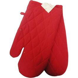 "7"" x 12"" Red Woven Classic Oven Mitts thumb"