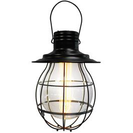 "10"" Black Hanging Battery Operated Retro Pendant Light thumb"