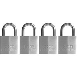 "4 Pack 1-1/2"" Keyed Alike Aluminum Padlocks thumb"