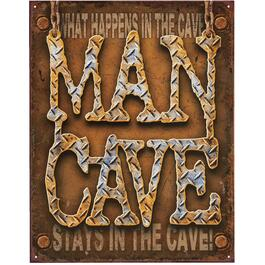 "16"" x 12"" Man Cave Wall Plaque thumb"