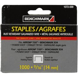 "1000 Pack 9/16"" Staples, for T50 Stapler thumb"