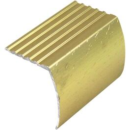 12' Hammered Gold Stair Nose Moulding thumb