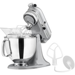 325 Watt 10 Speed Metallic Chrome Stand Mixer Bundle, with 5 Quart Bowl thumb