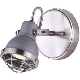 Gunnar 1 Light Brushed Nickel and Grey Wall/Ceiling Light Fixture thumb