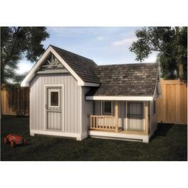 16' x 12' Storage Shed Playhouse Package, with Vinyl Siding thumb