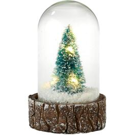 10cm LED Glass Cloche with Timer, Assorted Colours thumb