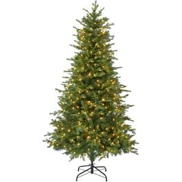 7' Polyethylene Real look Berkley Christmas Tree, with 400 Clear Lights thumb