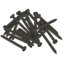 "100 Pack 6"" x 5/8"" Commercial Brown Pan Head Screws, for Aluminum Soffit and Fascia thumb"