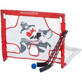 Mini Net and Target Hockey Set, with 2 Sticks, Balls and Carry Case thumb