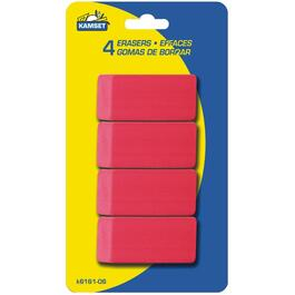 4 Pack Pink Erasers thumb