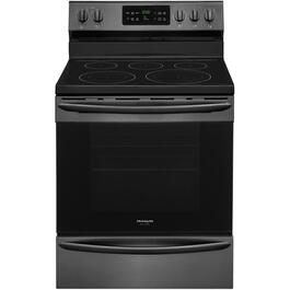 "30"" Black Stainless Steel Smooth Top Electric Range thumb"