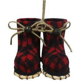 "3.5"" Black/Red Plaid Snowshoe Ornament thumb"