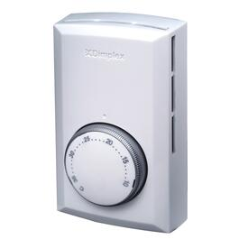 Double Pole White Electronic Wall Thermostat thumb