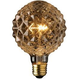 40W Designer Crystalina Globe Medium Base Clear Light Bulb thumb