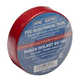 "7mil x 3/4"" x 60' CSA Approved PVC Red Electrical Tape thumb"