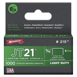 "1000 Pack 5/16"" 0.03 Ga. Staples, for JT21 Stapler thumb"