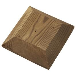 "2"" x 6"" x 6"" Brown Pressure Treated Flat Post Cap thumb"