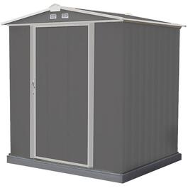 6' x 5' Charcoal with Cream Trim Storage Shed thumb