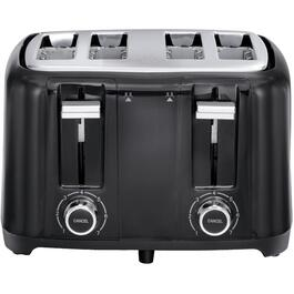 4 Slice Black Toaster, with Extra Wide Slots thumb
