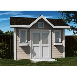 12' x 10' Side Entry Corner Gable Shed Package, with Decorative Plywood thumb