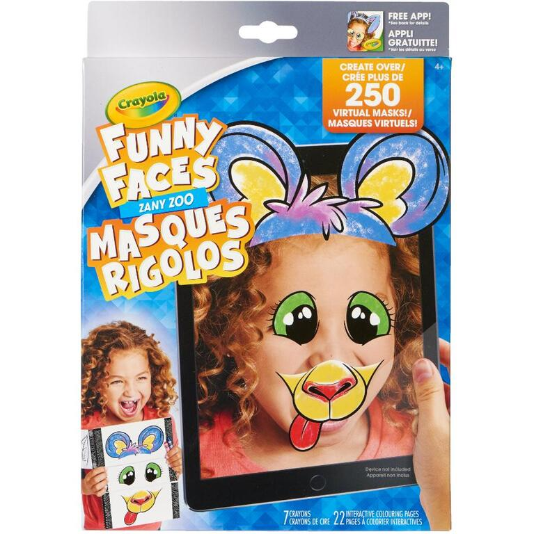 funny faces interactive colouring book home hardware