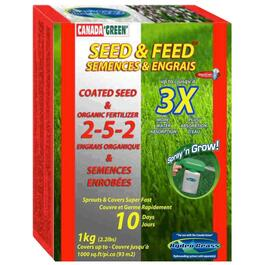 1kg Hydro-Grass Lawn Feed and Seed Refill thumb