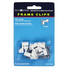 8 Pack White Screen Frame Clips thumb