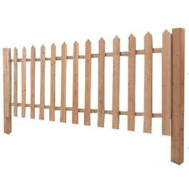 3' Cedar Sanded Four Sides Picket Fence Package thumb