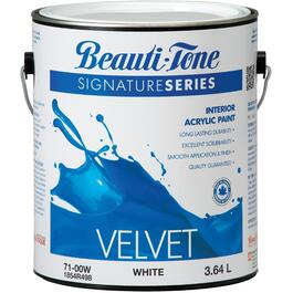 3.64L White Base Velvet Finish Interior Latex Paint thumb