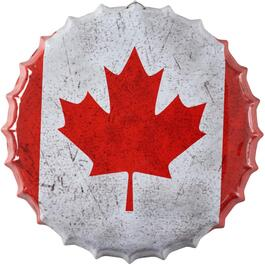 "14"" Canada Bottle Cap Wall Plaque thumb"