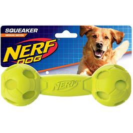 "7"" Nerf Squeak Barbell Dog Toy, Assorted Colours thumb"
