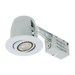 "4"" 7W White Recessed Tilting LED Light Fixture for Non Insulated Ceilings thumb"