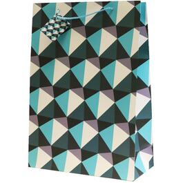 Jumbo Checkered Design Gift Bag, Assorted Colours thumb