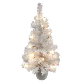 "18"" Tabletop White Christmas Tree, with 15 Warm White Battery Operated LED Lights thumb"