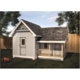 16' x 12' Storage Shed Playhouse Package, with Decorative Plywood thumb