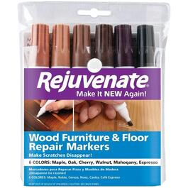 6 Pack Furniture and Floor Stain Wood Touch-Up Markers thumb