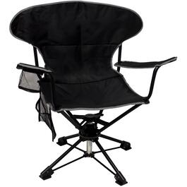 Adult Black Swivel Camp Chair thumb