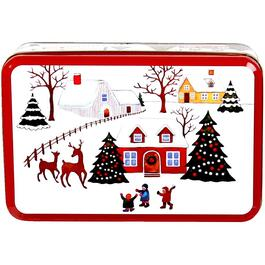 "8"" Rectangular Christmas Tin, Assorted Shapes and Designs thumb"